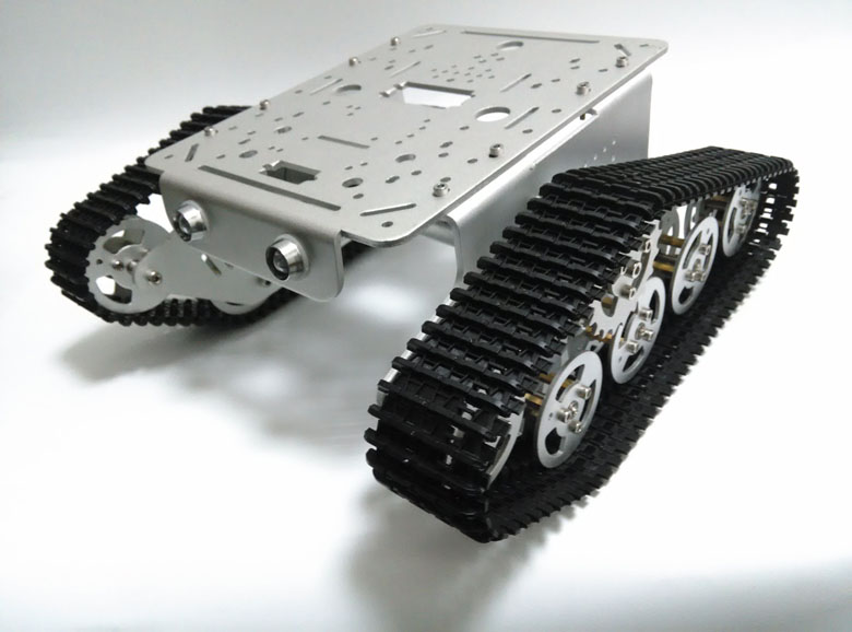 DIY T300 TANK Chassis Metal Tracked Crawler Robotic smart car 9V