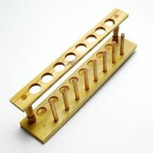 8 отверстий, 20 мм, деревянный лабораторный держатель пробирки, лабораторная подставка для бюретки