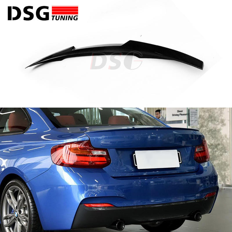 f22 f23 M4 style carbon fiber spoiler wing for bmw 2 series f87 m2 2-door 2014 - IN gloss carbon wing rear trunk lid spoiler f22 performance carbon fiber spoiler f23 f87 m2 wing rear trunk lip for bmw 2 series 2014 2016 2 door coupe m235i 218i 220i