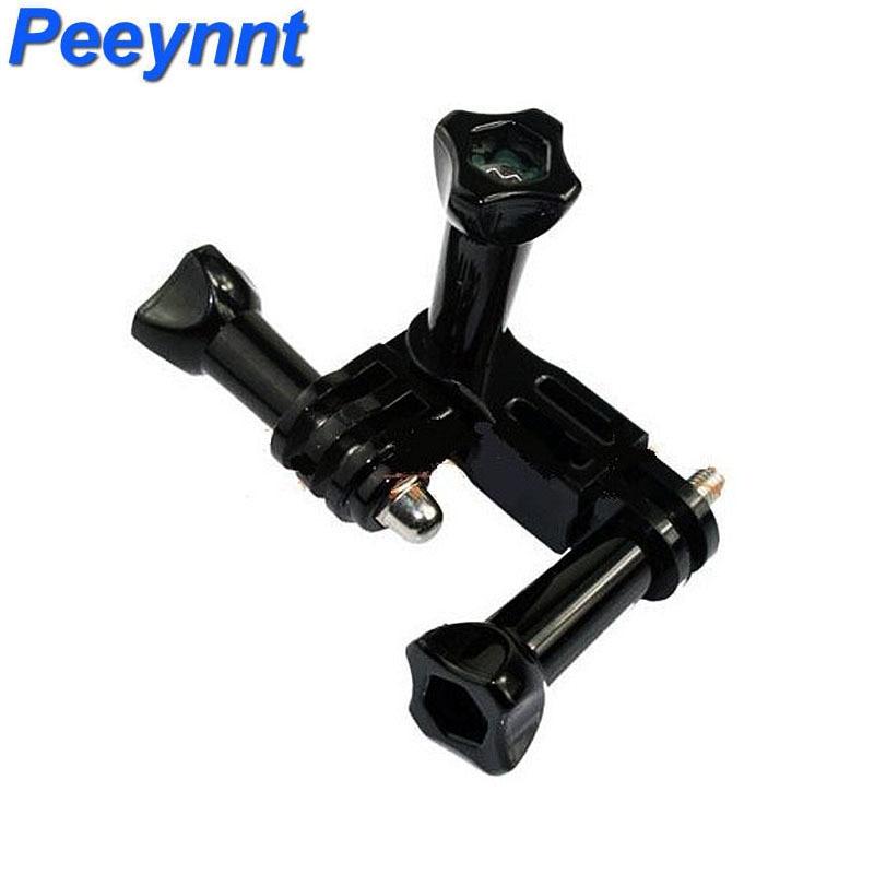 Peeynnt for Gopro hero 6 Three Way Adjustable Helmet Clamp Pivot Mount for Go pro 5 4 3 2 for Xiaomi Yi 4K SJCAM SJ4000 EKEN H9