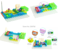 Circuit Kit With Lighted Bricks, 120 Different Projects in 1, electronic kit fm Radio experiments Educational Toys for kids