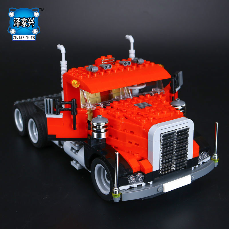 Lepins Creative Changing Series The Three In One Truck Set Children Educational Building Blocks Bricks Figures Toys Model Gift 2017 new 10680 2324pcs pirate ship series the slient mary set children educational building blocks model bricks toys gift 71042
