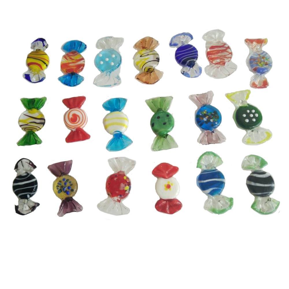 Lanlan 20 unids cristal de Murano de la vendimia dulces boda Navidad Fiesta inicio Decoración regalo