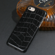 Настоящее Пояса из натуральной кожи чехол для iPhone 6 plus сотовый телефон роскошь для iPhone 6 6 S плюс 3D крокодиловой кожи узор 6 Plus задняя крышка