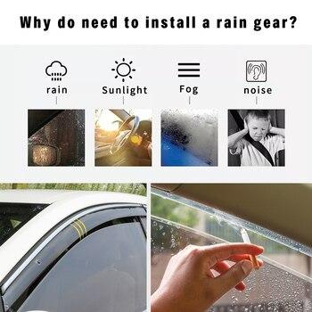Car Styling ABS Smoke Window Sun Rain Visor Deflectors Guard For Peugeot 301 2014 2015 2016 2017 Accessories 4PC