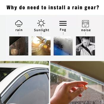 For Skoda Fabia 2008-2014 ABS Car Smoke Window Sun Rain Visor Deflector Guard Styling Accessories