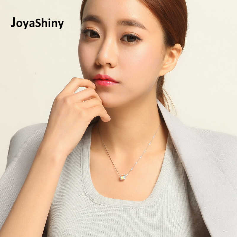 Joyashiny 925 Sterling Silver Choker Original Crystals From Swarovski Bead Necklace For Women Party Infinity Chain Jewelry