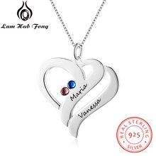 Ожерелья на заказ, искусственное серебро, гравировка имени, ожерелья, камень, сделай сам, подарок на день матери