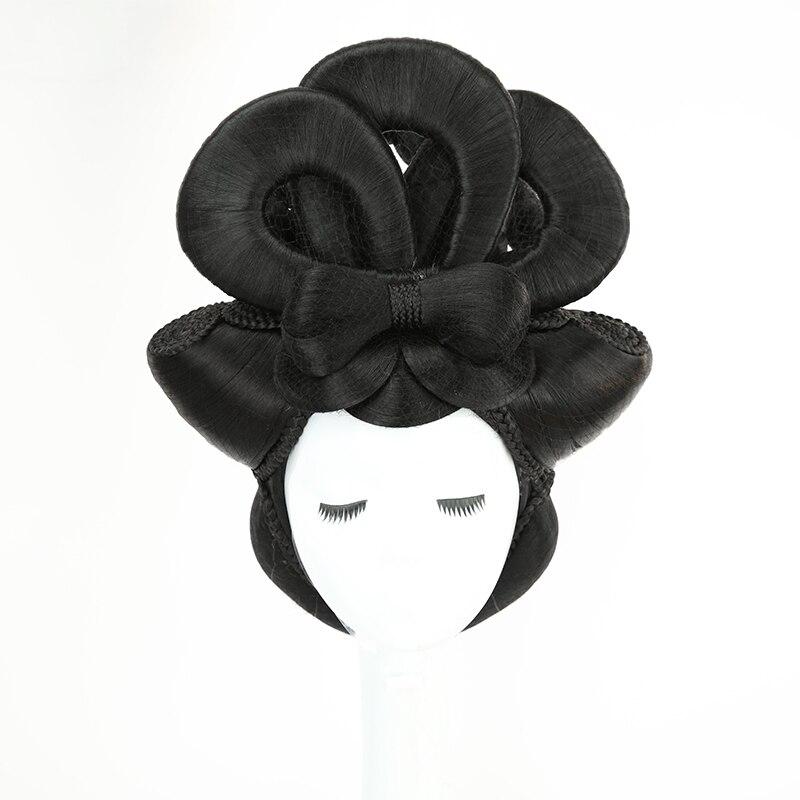 China Tang Dynasty Princess Hair Products Vintage Shaped Hair Queen Cosplay Beautiful Empress Hair