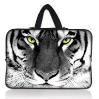 Popular Free Shipping Tiger Face 17 Laptop Carry Bag Sleeve Case+Hide Handle For 17.3 HP Dell Asus Sony Toshiba