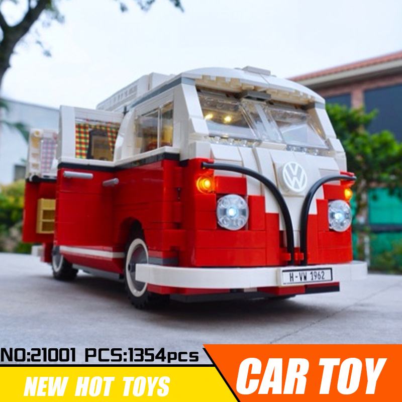 Lepin 21001 with LED Light Technic car Building Blocks Compatible Legoing 10220 Bricks Toys for Kids