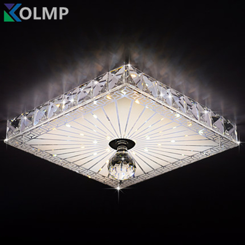 square crystal ceiling lights balcony hallway lighting 12w recessed surface mounted led ceiling. Black Bedroom Furniture Sets. Home Design Ideas