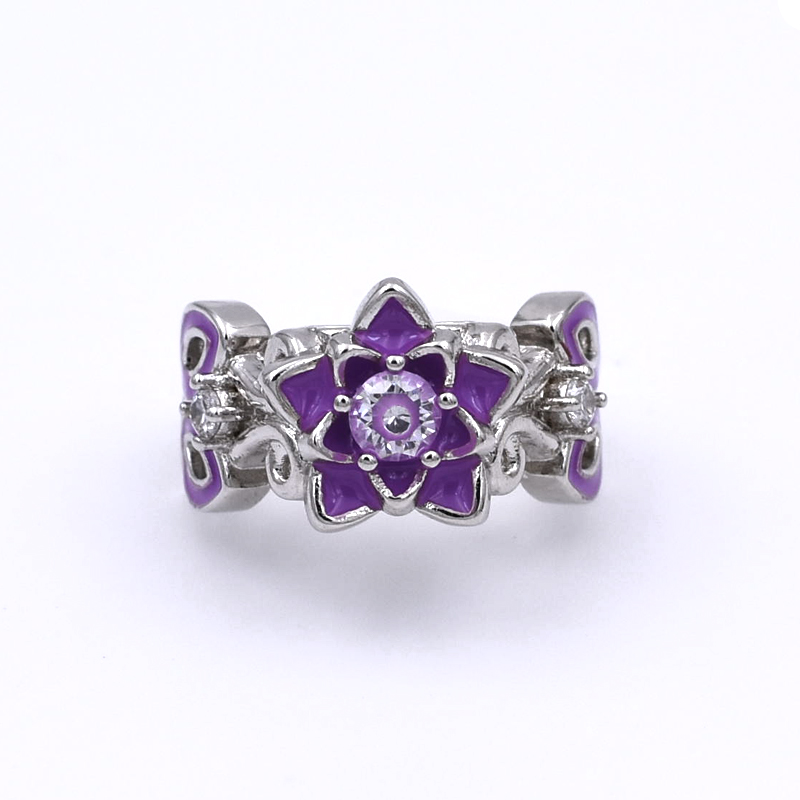 Aliexpress.com : Buy Elegant Lotus Flower Zircon ...
