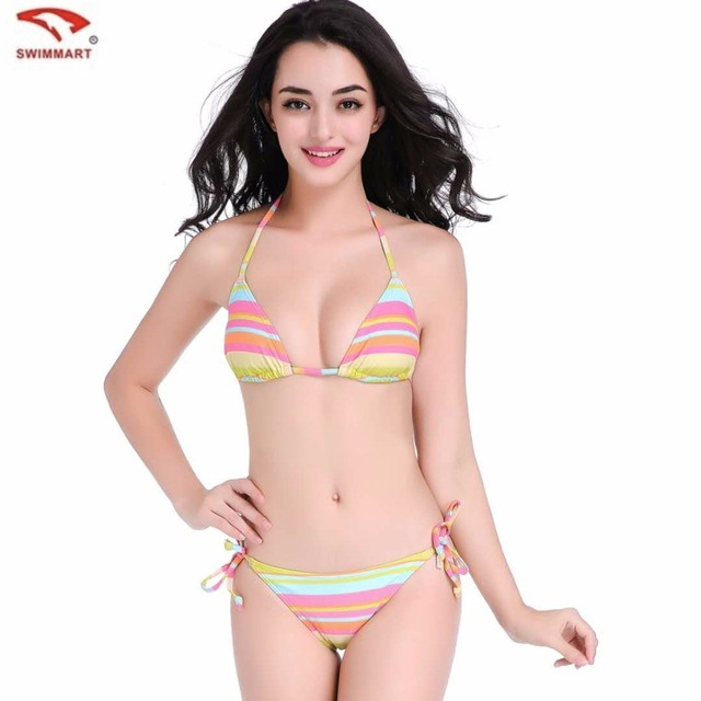 636b072eee DF3T Removable Breast Implants Big Size Bikini Sexy Island Side Holiday Fat  MM Colorful Printed Swimsuit Women. Price: US ...