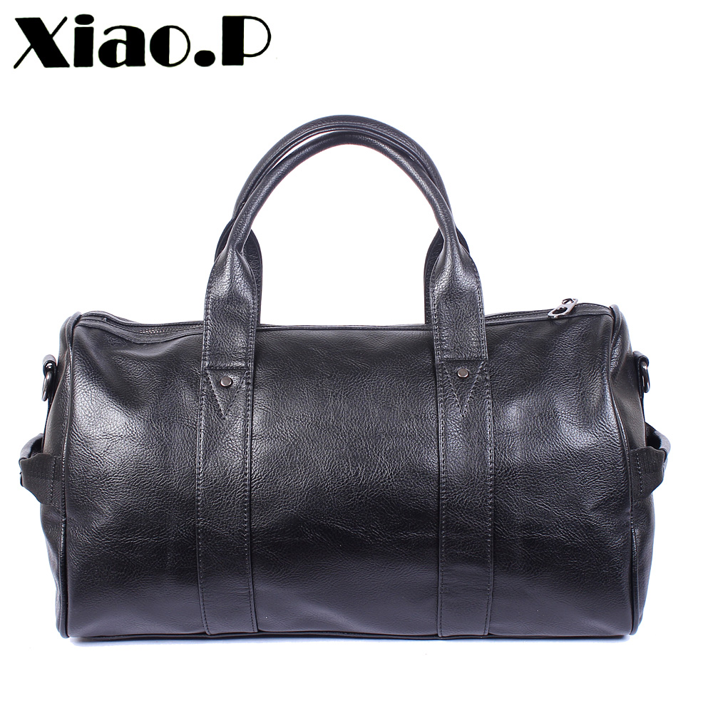 New high quality PU leather men's travel bags fashion bucket handbags shoulder bag big volume men business luggage bag big volume weekend bag for man in pu material men s business leather travel bag men duffel bag high quality men shoulder bags
