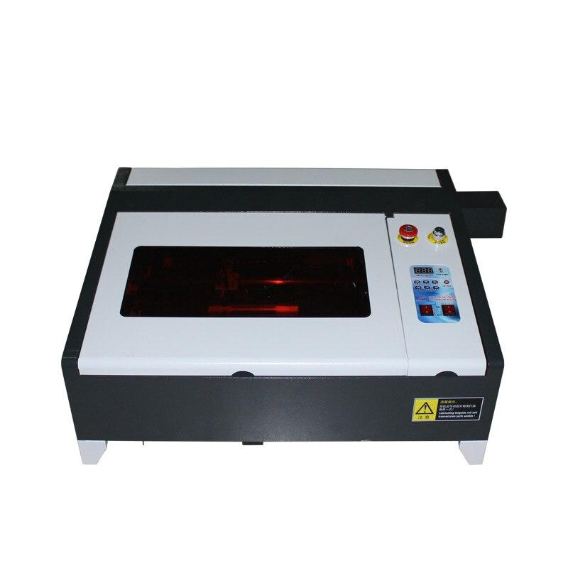 Machine de gravure laser CO2 4040 50 W avec couteau en aluminium et table à peigne miel