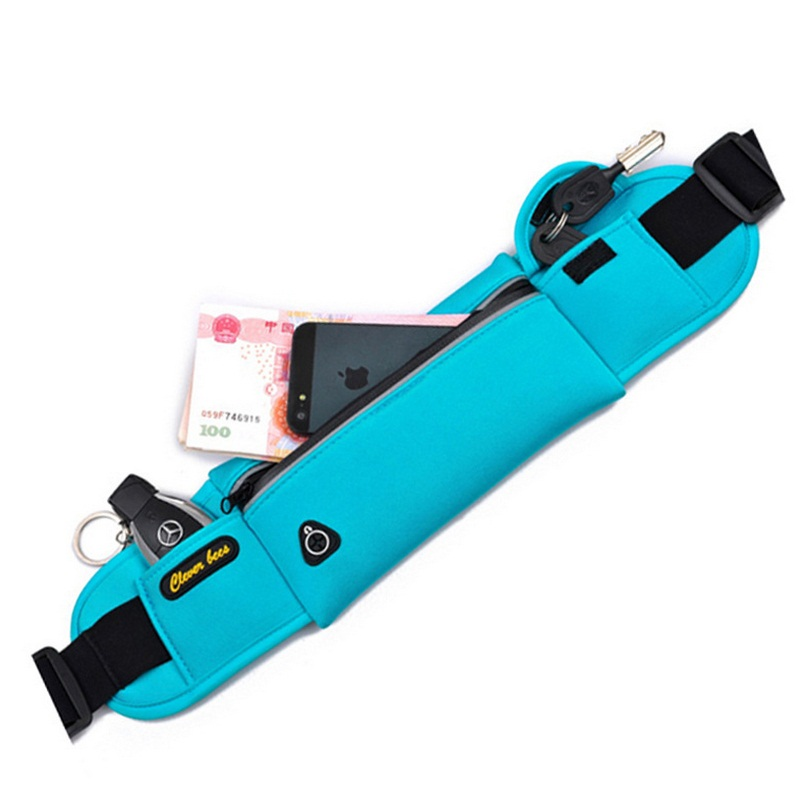 Unisex αδιάβροχο Νεοπρένιο πακέτο μέσης παπούτσια κορίτσια ζώνη τσάντα αγκίστρι χρήματα κλειδί τηλέφωνο πακέτο Fanny τσάντα μέση τσάντα μπανάνας τσάντα ισχίου μαύρο
