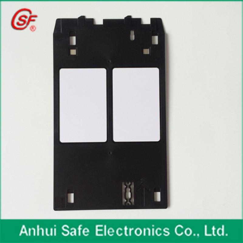 1pcs PVC ID Card Tray for Canon MG5420 MG5430 MG5440 MG5450 MG5470 MG5480 MG5550 MG5580 printer + 50pcs blank inkjet pvc card