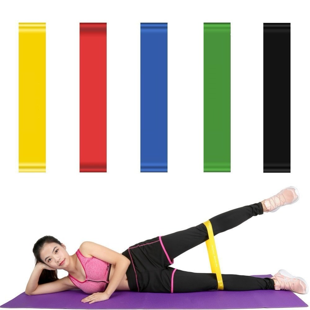 0.35mm-1.1mm 5 Colors Yoga Resistance Rubber Bands Indoor Outdoor Fitness Equipment Pilates Sport Training Workout Elastic Bands