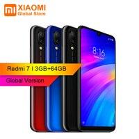 Глобальная версия Xiaomi Redmi 7 3 ГБ ОЗУ 64 Гб ПЗУ Snapdragon 6,26 дюймов Двойная Задняя камера 632 Восьмиядерный 4G новый смартфон в наличии