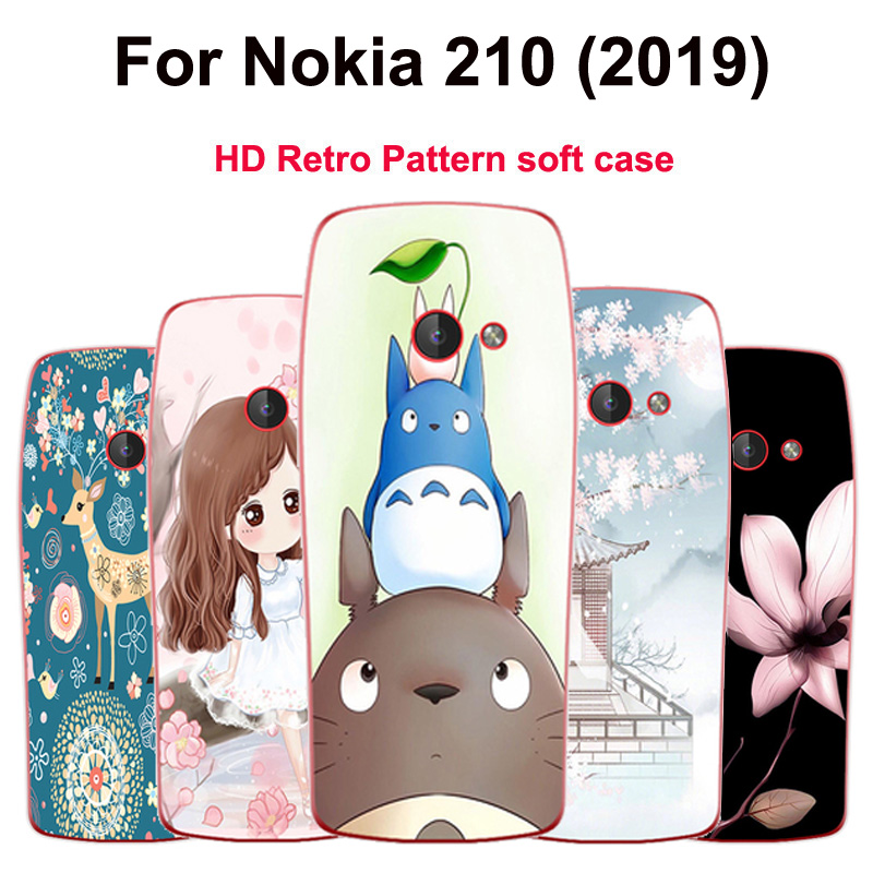 HD Patterned <font><b>Case</b></font> For <font><b>Nokia</b></font> <font><b>210</b></font> (2019) Soft TPU <font><b>Case</b></font> Phone Back Cover For <font><b>Nokia</b></font> <font><b>210</b></font> 2019 casing bumper TA-1139 slim <font><b>Cases</b></font> image