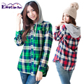 Emotion Moms Long Sleeve plaid shirt maternity clothes nursing top maternity tops for pregnant women breastfeeding tops Spring