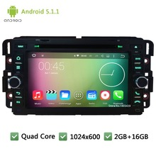 Quad Core Android 5.1.1 7″ 1024*600 FM Car DVD Player Radio Audio Stereo For GMC Yukon Tahoe Chevrolet Express Traverse Suburban