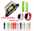 Hot Silicone Replacement Smart Watch Strap 38mm 42mm Band for Apple Watch Watch Bracelet Belt watch case protector for iwatch