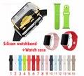 Reemplazo de silicona caliente smart watch banda de correa 38mm 42mm para apple watch watch pulsera de reloj de la correa del caso protector para iwatch