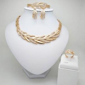 Набор свадебных ювелирных изделий из нигерийских бусин, набор ювелирных изделий золотого цвета в Дубае, ожерелье и браслет из африканских б...