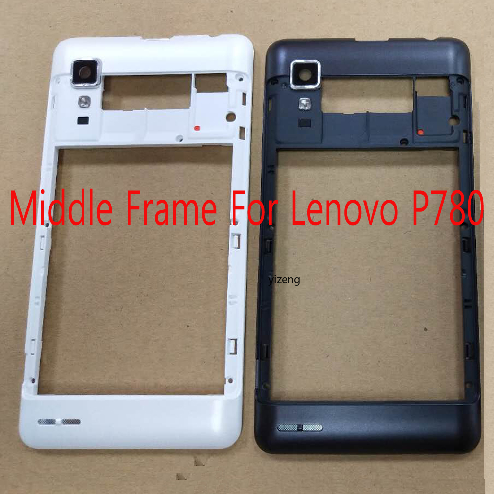 Middle Frame Bezel For Lenovo P780 Back Faceplate Panel Housing With Camera Lens Replacement Part