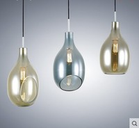 post modern Nordic fashion simple glass bottle pendant light houses restaurants dining room bar hanging lighting