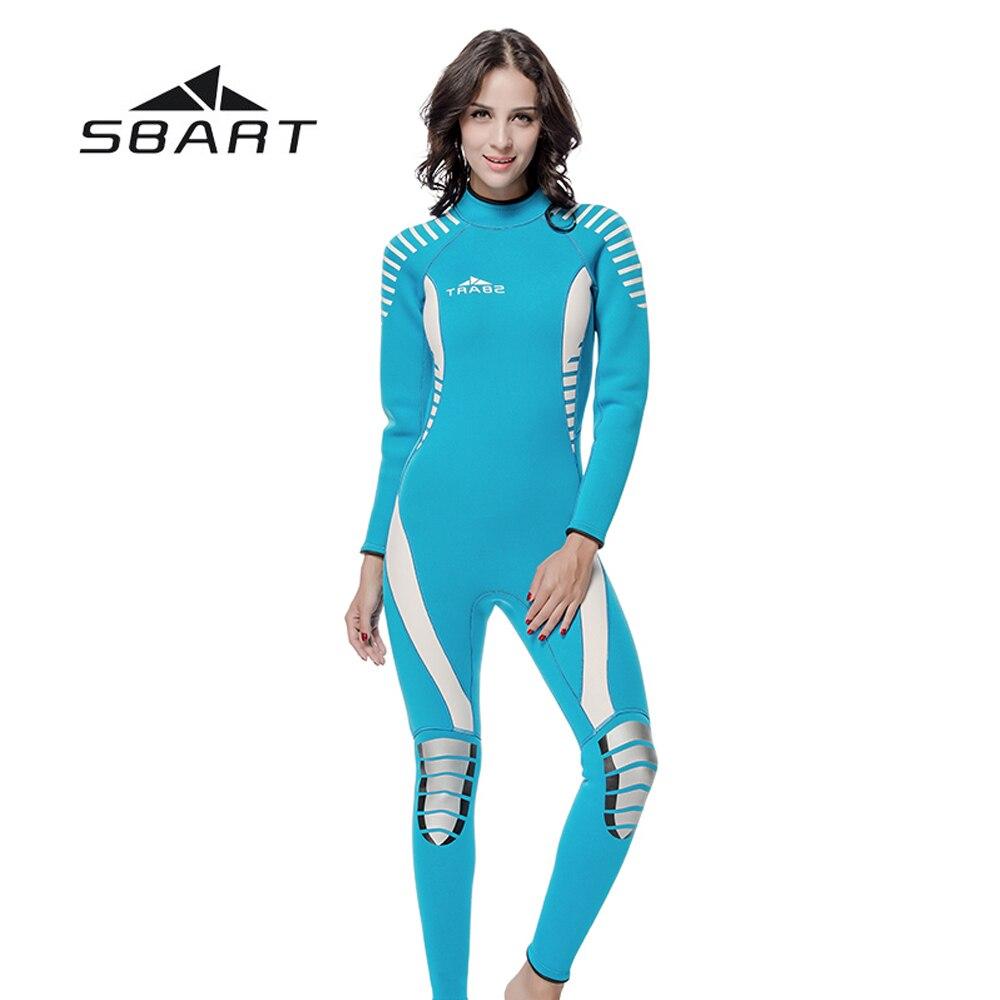 все цены на SBART 3mm Neoprene Women Kite Surfing Snorkeling Wetsuit Triathlon Scuba Diving Suit Spearfishing Swimsuit Full Body Jumpsuit