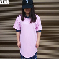 WIPU Mens Big Tall Clothing Designer Citi Trends Clothes Hip Hop T Shirt Homme Curved Hem