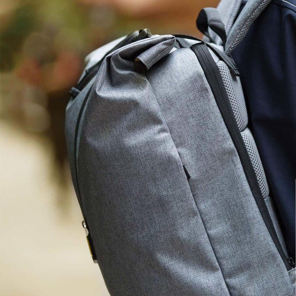 Original Xiao mi 90 Fun loisirs mi sac à dos 14 pouces décontracté voyage ordinateur portable sac à dos collège étudiant sac d'école gris bleu - 6