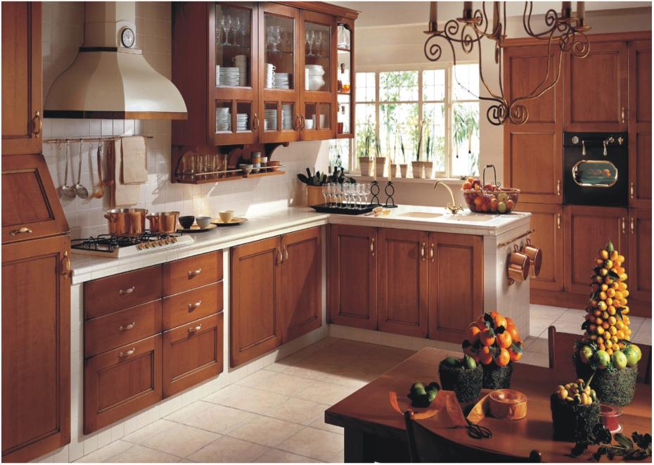 el diseo para mobiliario de cocina con panel de la puerta de madera maciza