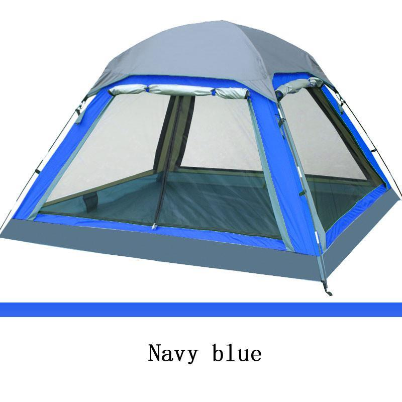 Camping Tent 4 person Summer Outdoor Equipment Single Family Tourism Beach Tents Three-season Waterproof new outdoor 3 4person big space anti uv pyramid beach tents waterproof family camping tent