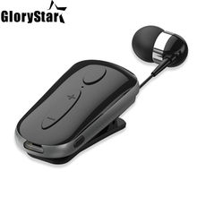 New Black White Stereo Wireless Bluetooth 4.0 Headset Calls Remind Vibration Wear Clip Driver Auriculares Earphone for Phone(China)