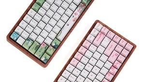 Image 5 - Ensemble de bouchons de clé teinture cerise, en plastique PBT, pour piscine de lotus, de couleur verte, blanche, bleue, pour gh60, xd64, xd84, xd96, tada68 87 104