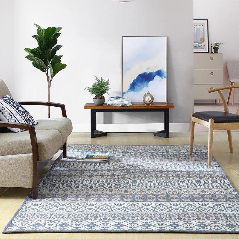 Большие размеры в простом стиле гостиная прикроватные ковер, журнальный столик ковер, прямоугольник землю коврик, пастырской украшения дом...