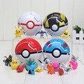 4 cores boneca pikachu pikachu pokeball Jogar Saltar Automaticamente + bola puxão poket pvc action figure brinquedos para animais de estimação