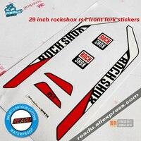 29 cali rs1 przedni widelec naklejki rowerowe naklejki rockshox Rs1 widelec Mtb rama karbonowa rama rowerowa widelec naklejki w Naklejki rowerowe od Sport i rozrywka na