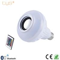 E27 Smart LED Lamp Wireless RGB Bulb Bluetooth Lampada Speaker Lamparas RC Ampoule 85V 265V Bombillas