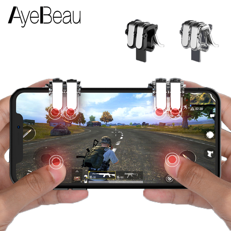 Controller Pubg Mobile L1r1 Gamepad Joystick Trigger For Cel