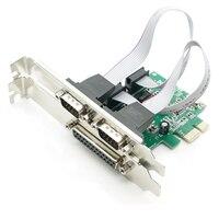 2 Порты и разъёмы S RS-232 serial Порты и разъёмы com и DB25 принтер параллельный Порты и разъёмы LPT для pci-e PCI Express Card адаптер конвертер wch382 чип DB9 DB25