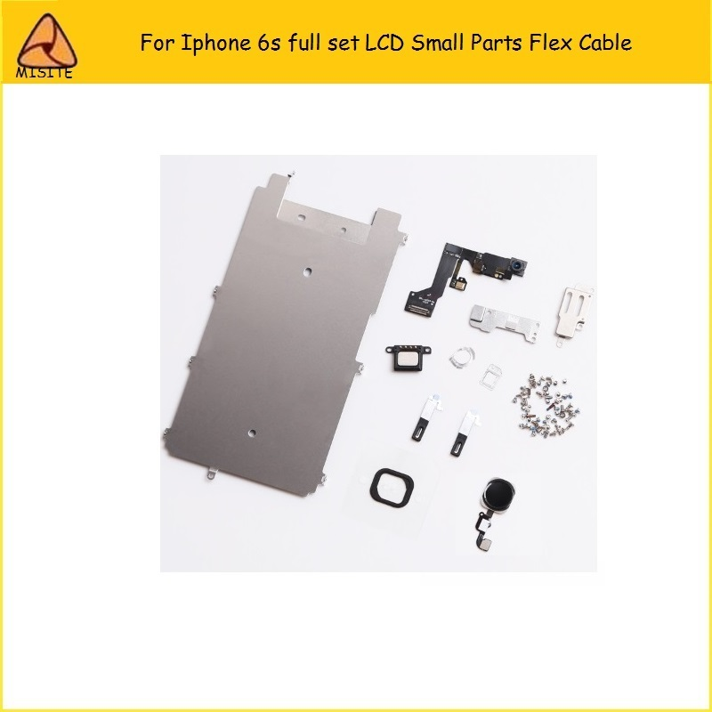 10Pcs/Lot For iphone 6S LCD Digitizer Full Set Small Repair Part Metal Shield Plate Front Camera Ear Speaker Home Button Flex image