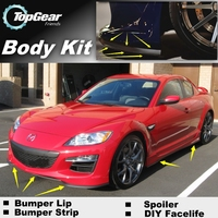 For Mazda RX 8 RX8 RX 8 2003~2012 Bumper Lip / Front Spoiler Deflector For Car Tuning / Body Kit / Strip Skirt