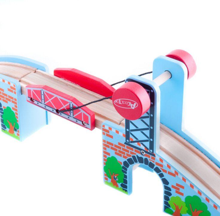 TTC57 L-BRIDGE en bois piste jouet Train scène piste accessoires BRIO jouet voiture camion Locomotive moteur chemin de fer jouets pour enfants