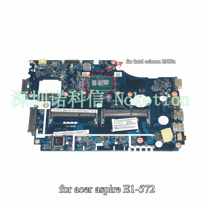 NOKOTION NB.MFM11.00A NBMFM1100A Main Board For Acer E1-532 E1-532P Laptop Motherboard V5WE2 LA-9532P DDR3L