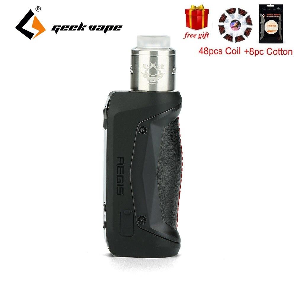 Bobine et coton gratuits!! 100 W Geekvape Aegis Solo TC Kit W/Tengu RDA & précis trous de flux d'air latéraux e cig Vape Kit VS Aegis Legend-in Kits cigarette électronique from Electronique    1